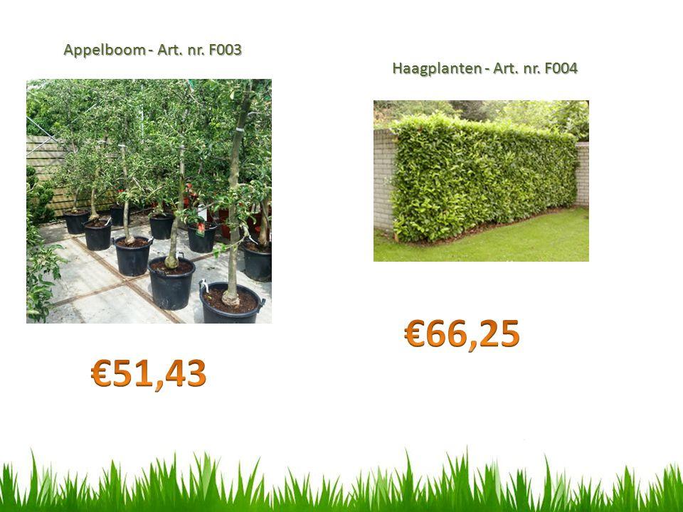 Appelboom - Art. nr. F003 Haagplanten - Art. nr. F004 €66,25 €51,43