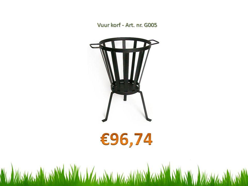 Vuur korf - Art. nr. G005 €96,74