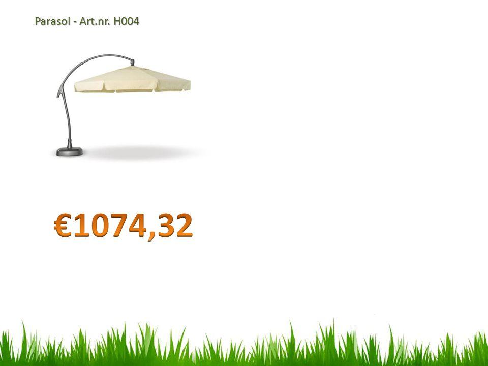 Parasol - Art.nr. H004 €1074,32