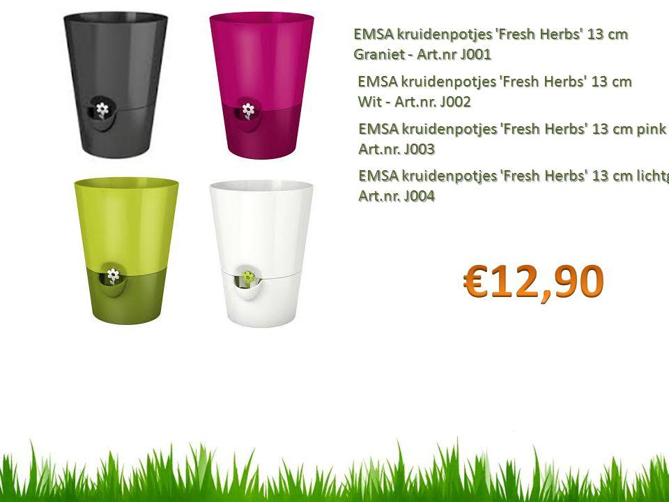 €12,90 EMSA kruidenpotjes Fresh Herbs 13 cm Graniet - Art.nr J001