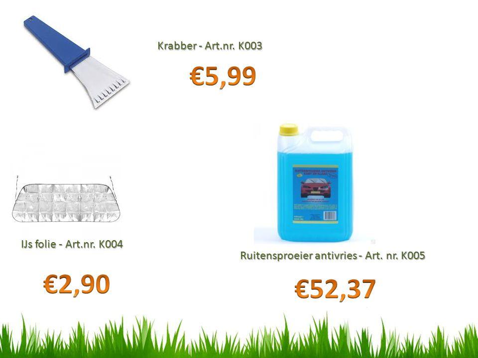 €5,99 €2,90 €52,37 Krabber - Art.nr. K003 IJs folie - Art.nr. K004