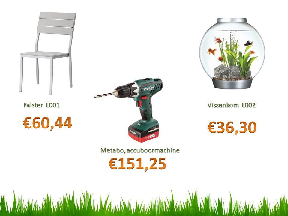 €60,44 €36,30 €151,25 Falster L001 Vissenkom L002