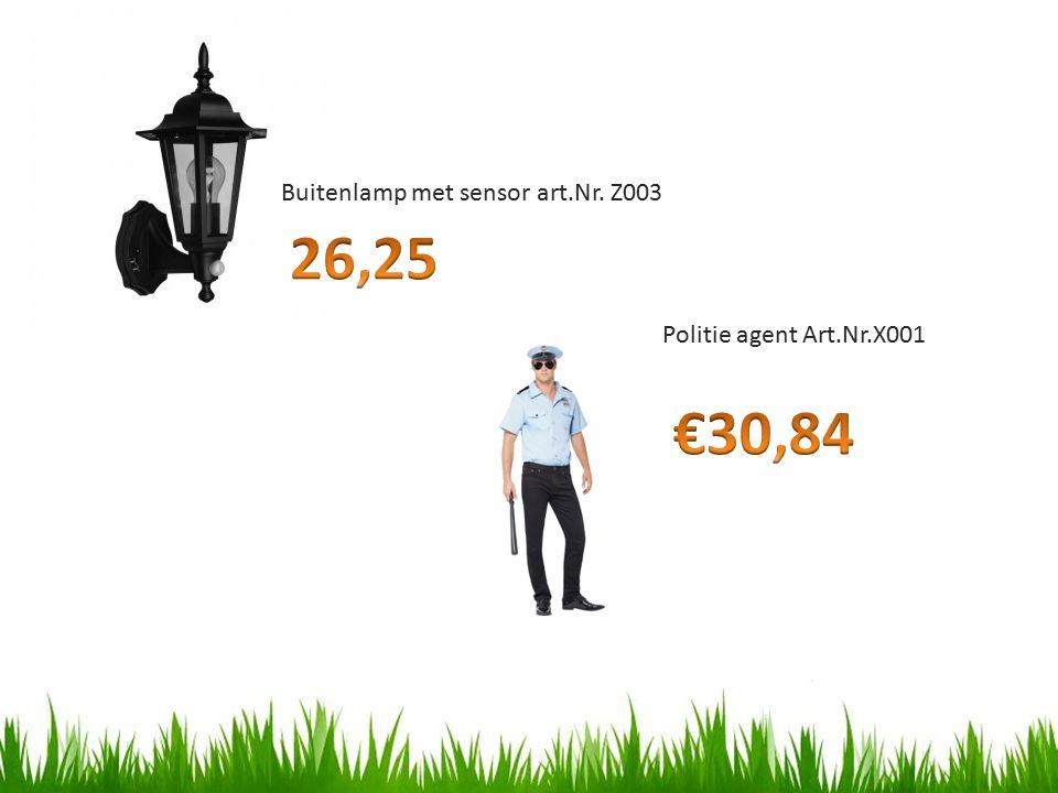 26,25 €30,84 Buitenlamp met sensor art.Nr. Z003