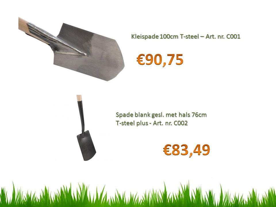 €90,75 €83,49 Kleispade 100cm T-steel – Art. nr. C001