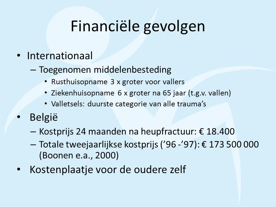 Financiële gevolgen Internationaal België