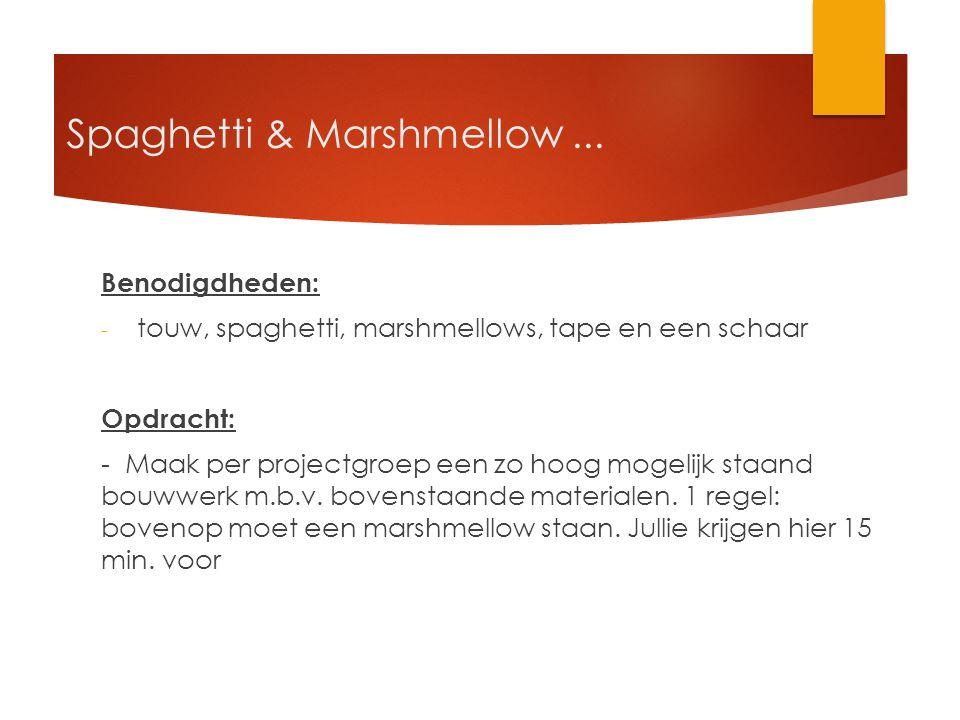 Spaghetti & Marshmellow ...