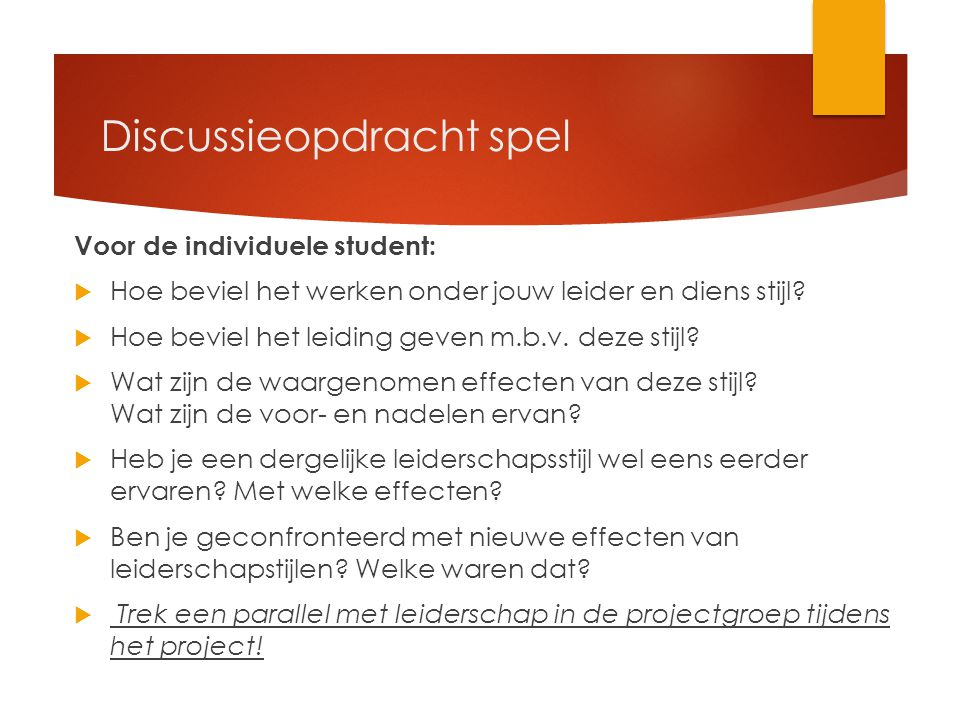 Discussieopdracht spel