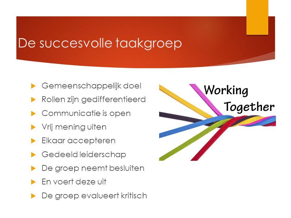 De succesvolle taakgroep