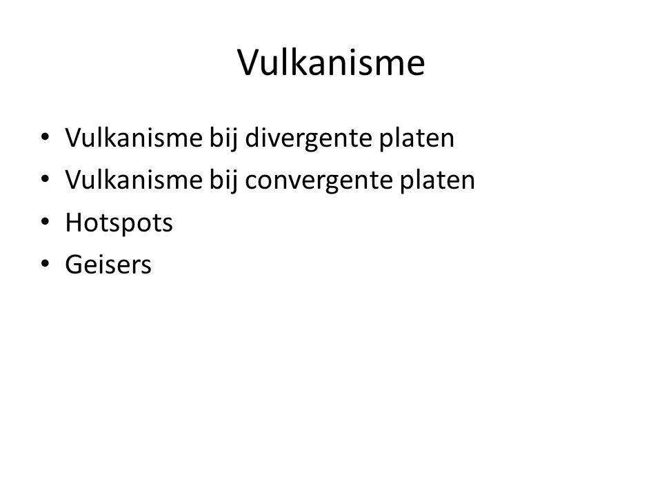 Vulkanisme Vulkanisme bij divergente platen