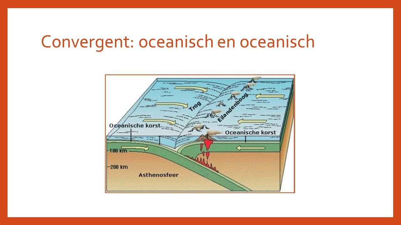 Convergent: oceanisch en oceanisch