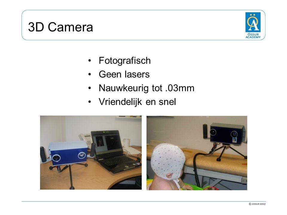 3D Camera Fotografisch Geen lasers Nauwkeurig tot .03mm