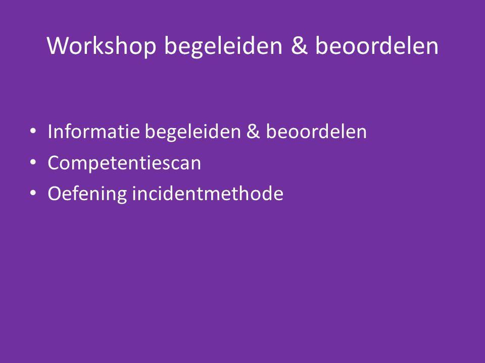 Workshop begeleiden & beoordelen