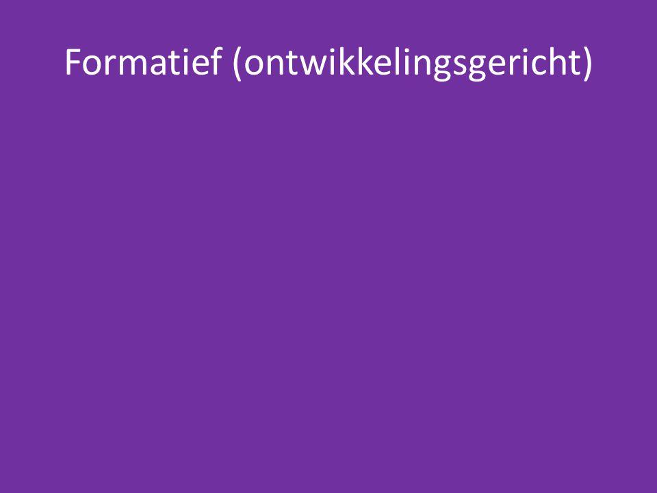 Formatief (ontwikkelingsgericht)