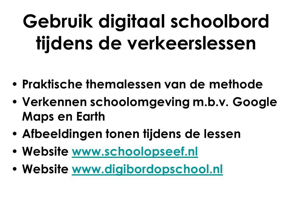 Gebruik digitaal schoolbord tijdens de verkeerslessen