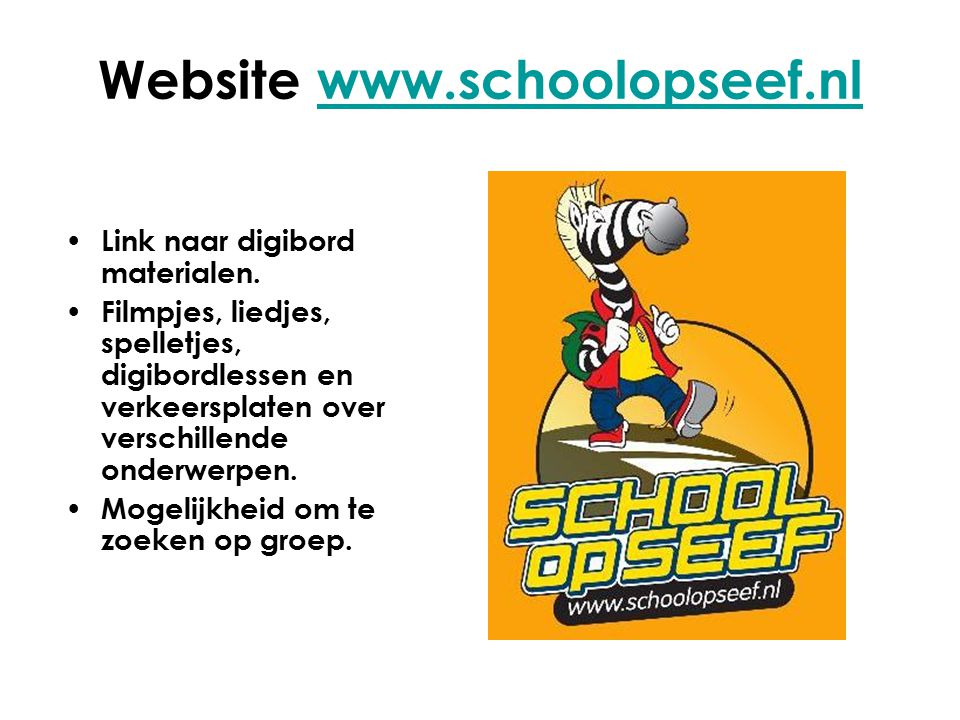 Website www.schoolopseef.nl