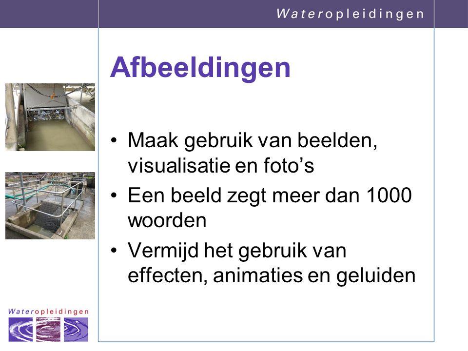 Afbeeldingen Maak gebruik van beelden, visualisatie en foto's