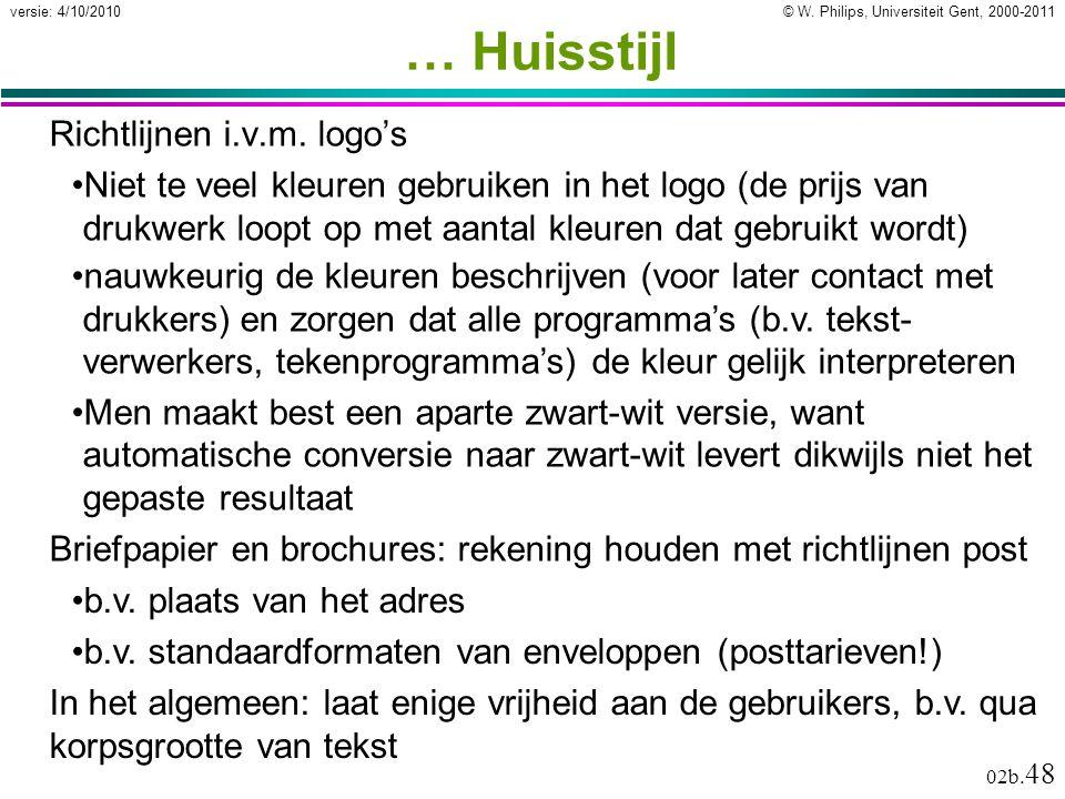 … Huisstijl Richtlijnen i.v.m. logo's