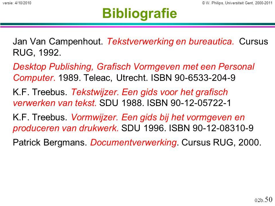 Bibliografie Jan Van Campenhout. Tekstverwerking en bureautica. Cursus RUG, 1992.
