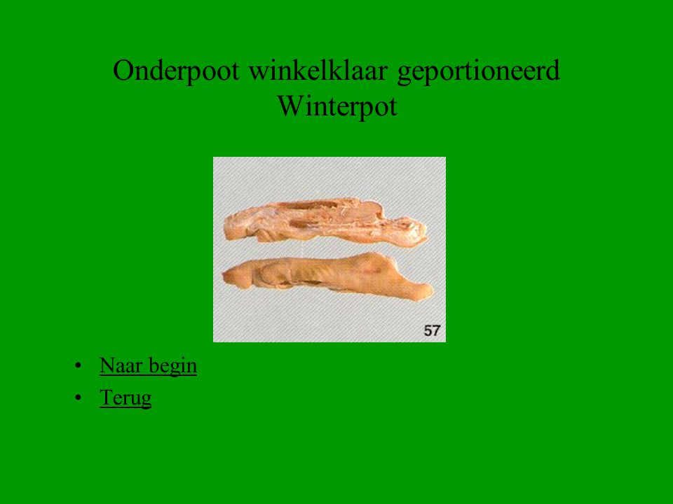 Onderpoot winkelklaar geportioneerd Winterpot