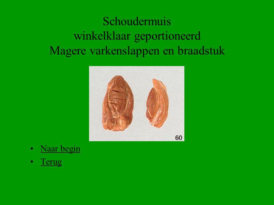 Schoudermuis winkelklaar geportioneerd Magere varkenslappen en braadstuk