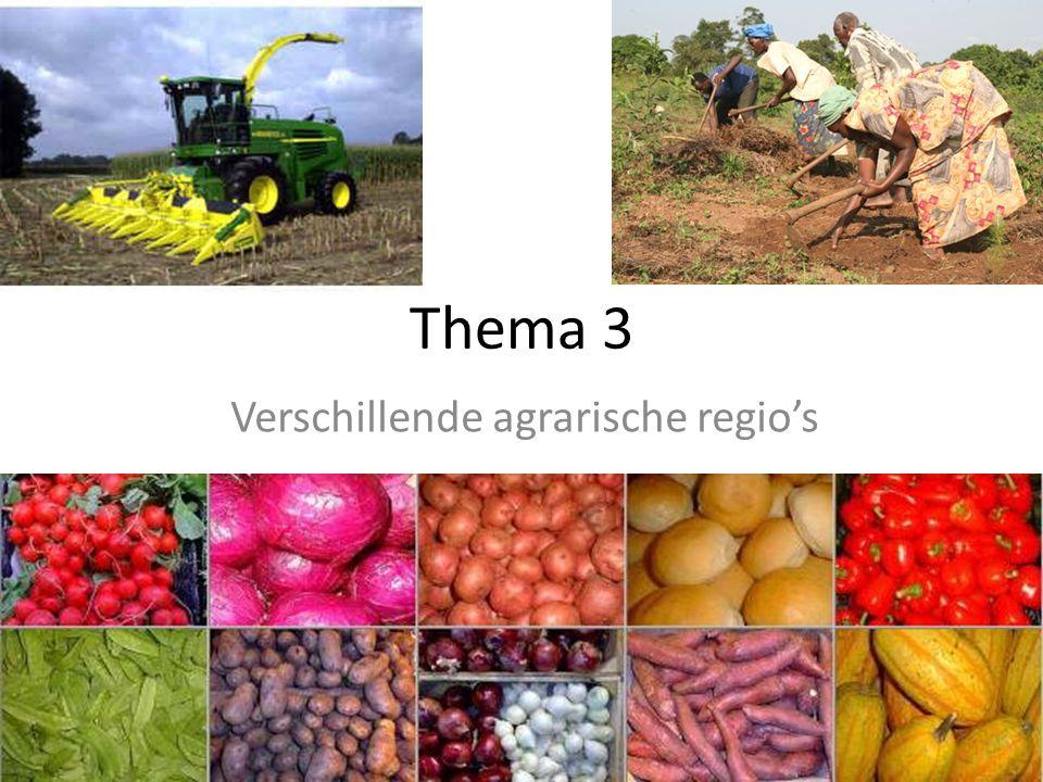 Verschillende agrarische regio's