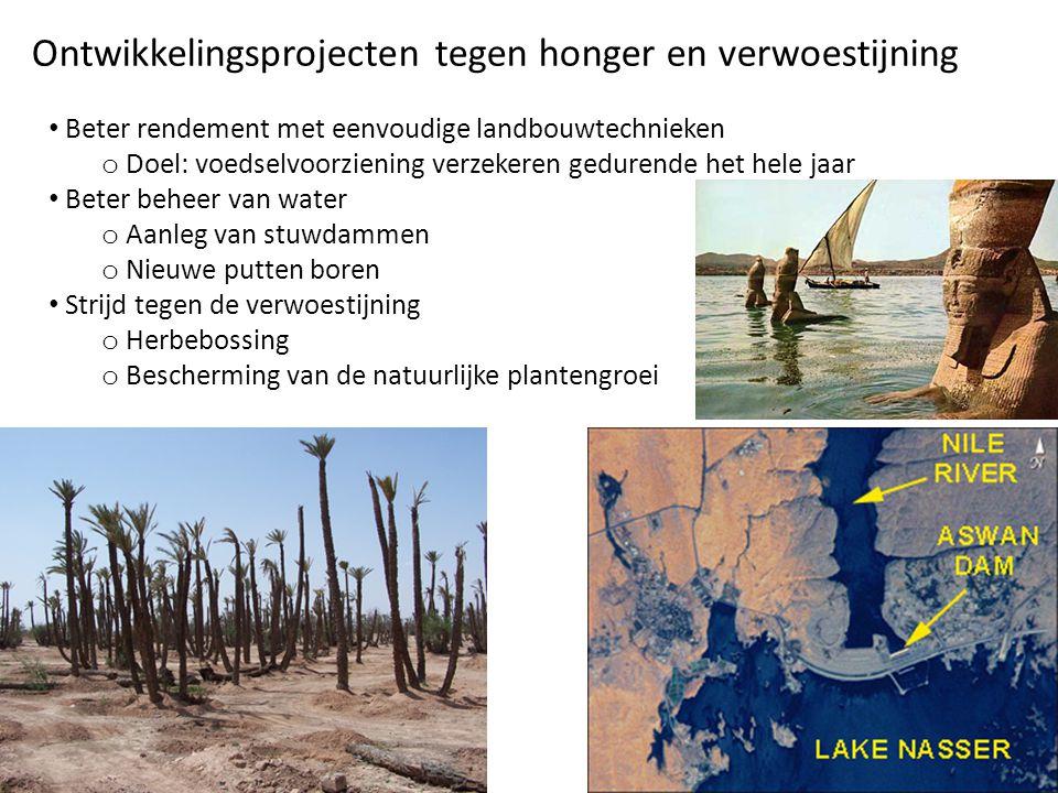 Ontwikkelingsprojecten tegen honger en verwoestijning