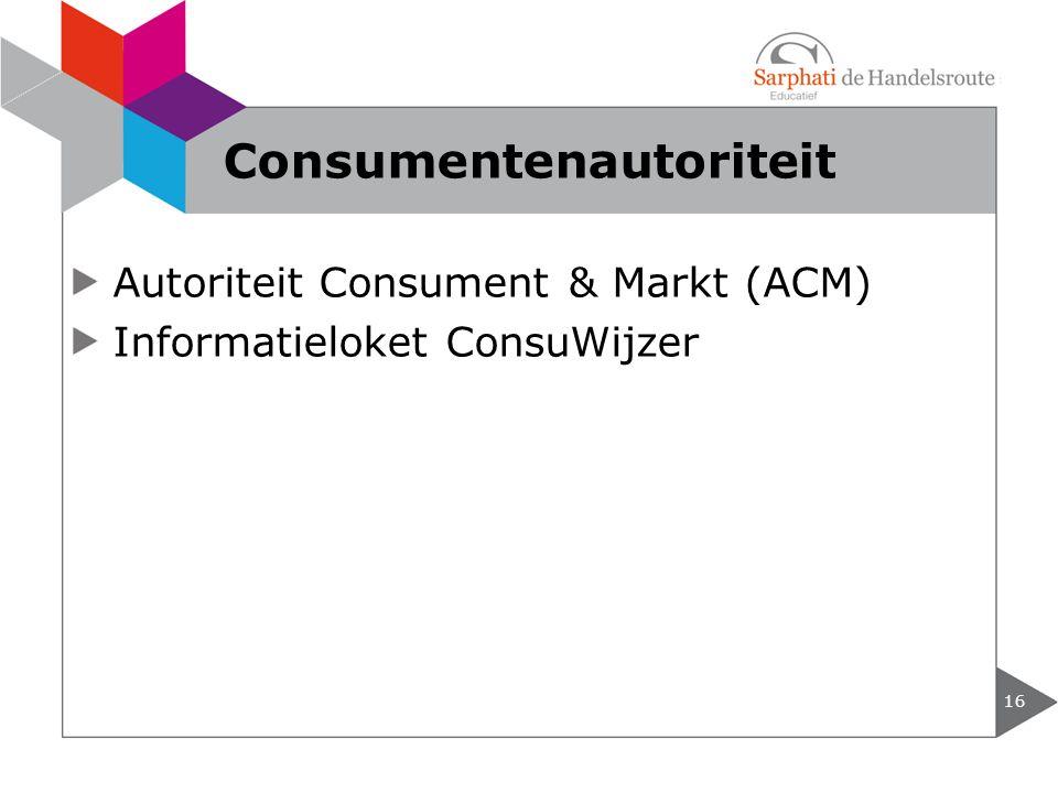 Consumentenautoriteit