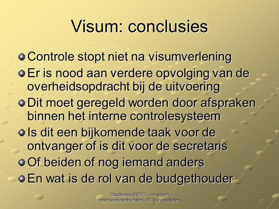 Studiedag VVSG - visum en overheidsopdrachten - W. Van Huffelen