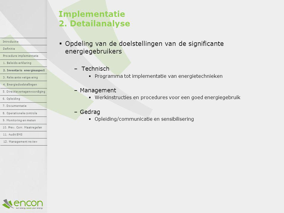 Implementatie 2. Detailanalyse