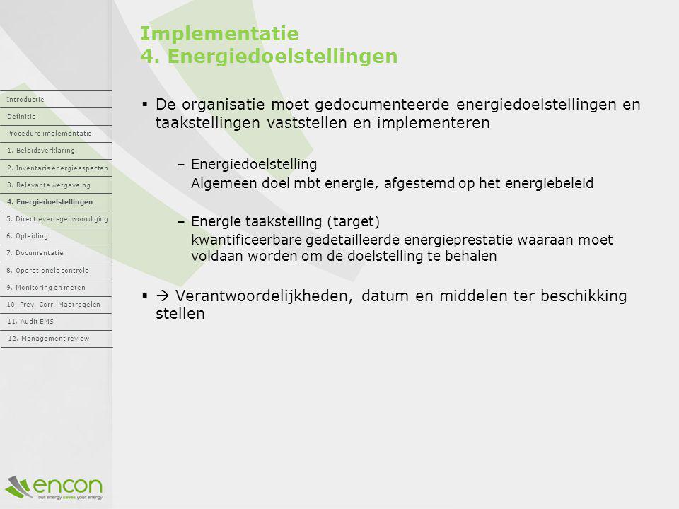 Implementatie 4. Energiedoelstellingen