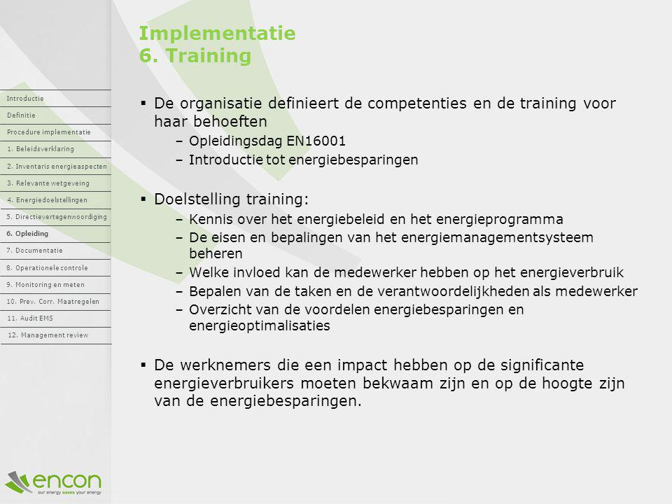 Implementatie 6. Training
