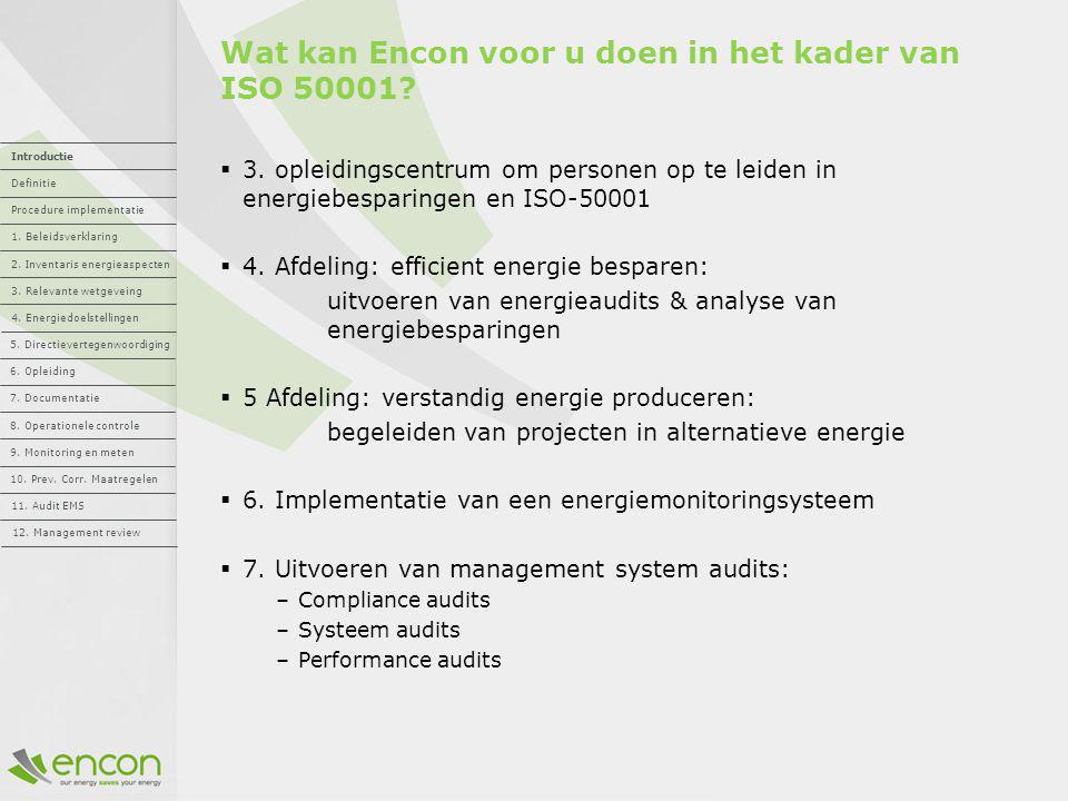 Wat kan Encon voor u doen in het kader van ISO 50001