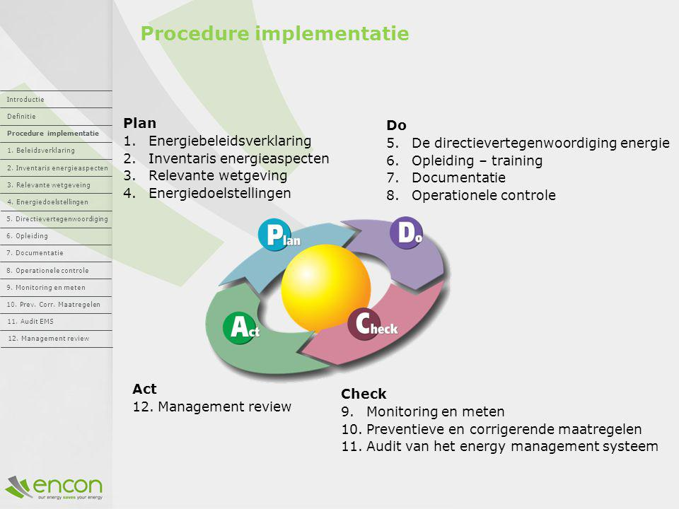 Procedure implementatie