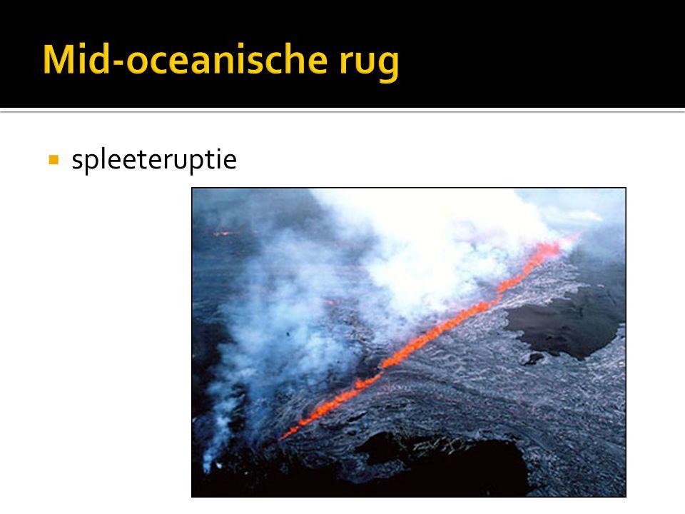 Mid-oceanische rug spleeteruptie