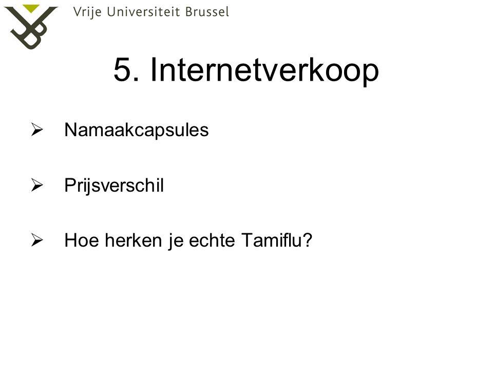 5. Internetverkoop Namaakcapsules Prijsverschil