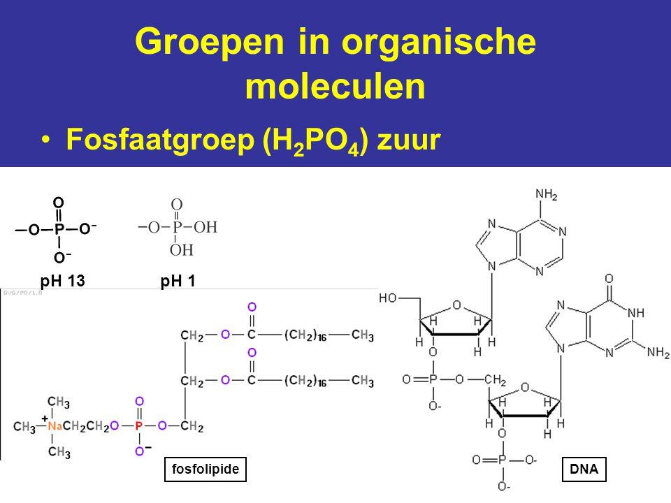Groepen in organische moleculen