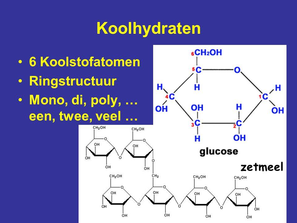 Koolhydraten 6 Koolstofatomen Ringstructuur