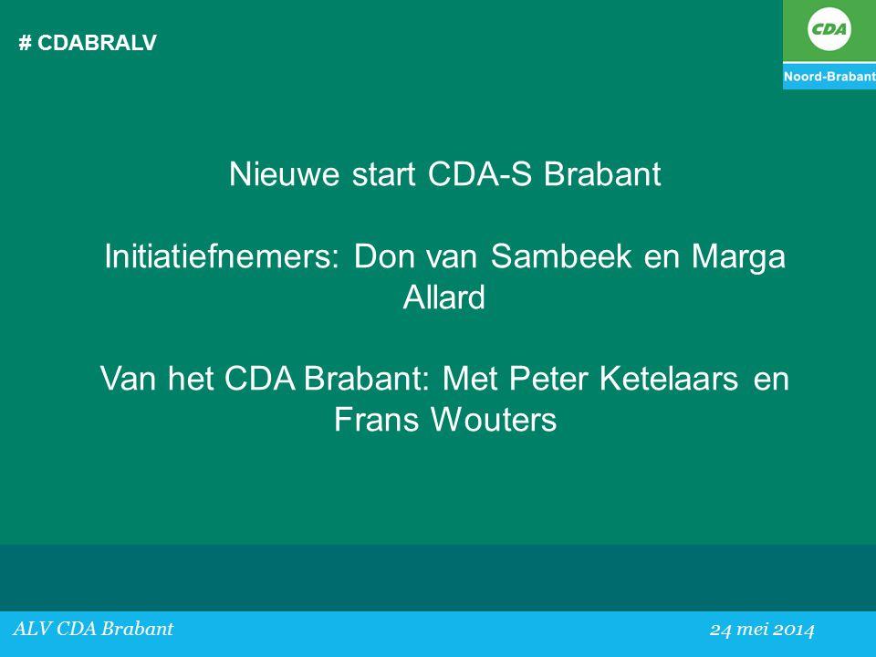 Nieuwe start CDA-S Brabant