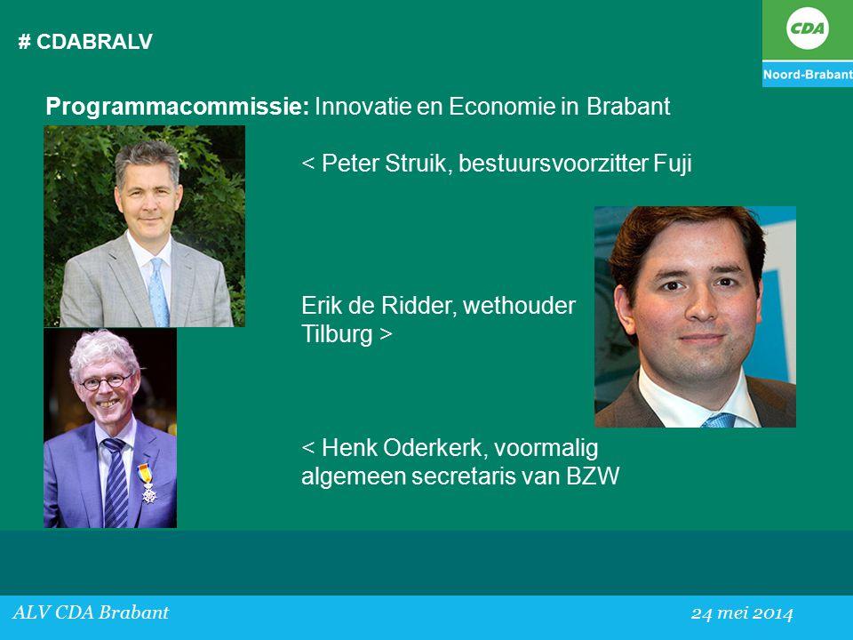 Programmacommissie: Innovatie en Economie in Brabant