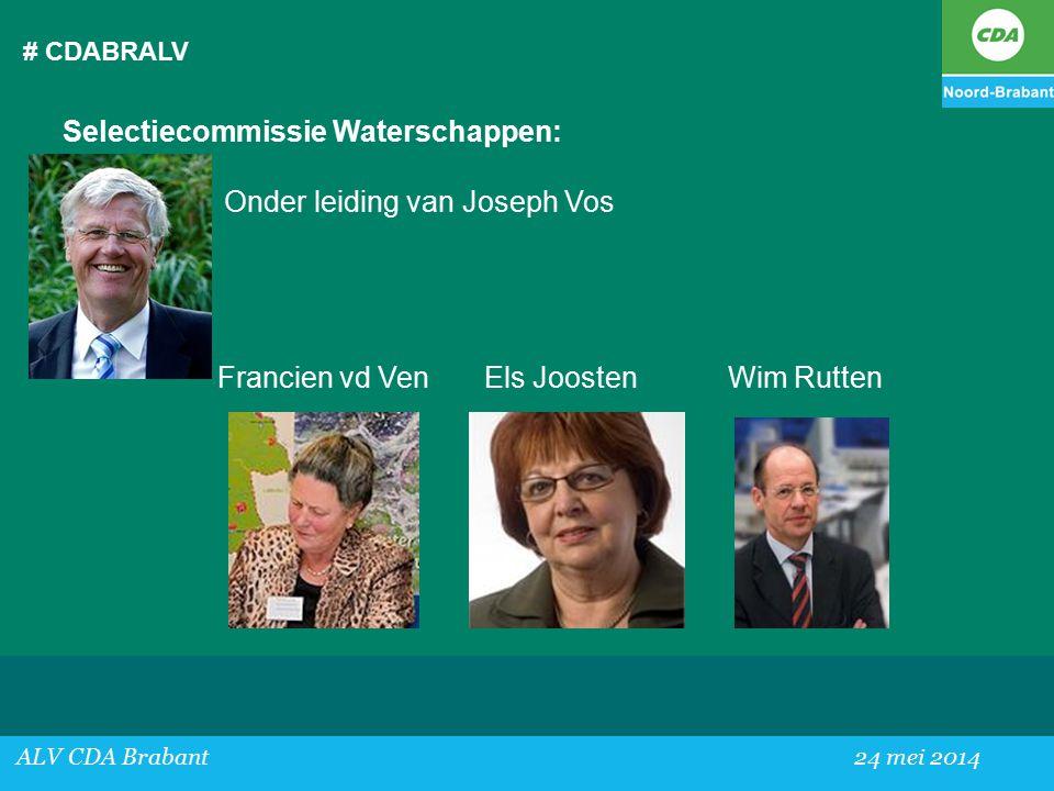 Selectiecommissie Waterschappen: Onder leiding van Joseph Vos