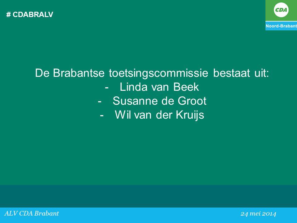 De Brabantse toetsingscommissie bestaat uit: