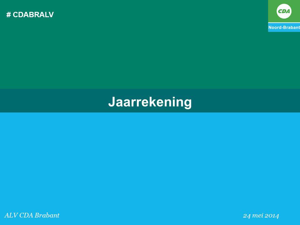 # CDABRALV Jaarrekening ALV CDA Brabant 24 mei 2014