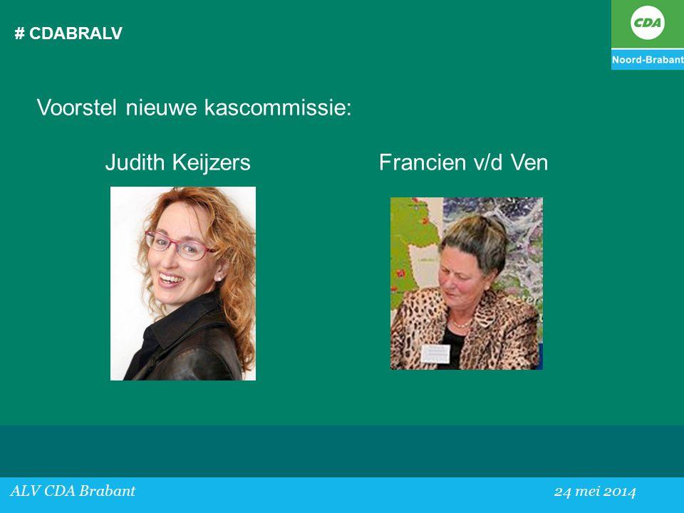 Voorstel nieuwe kascommissie: Judith Keijzers Francien v/d Ven