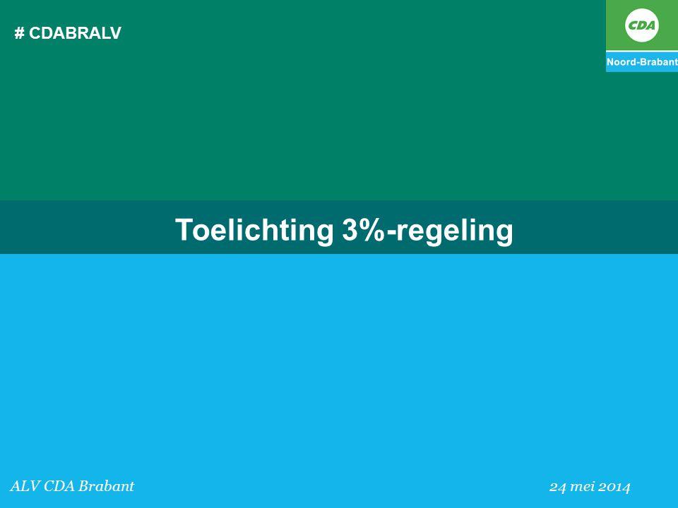 Toelichting 3%-regeling