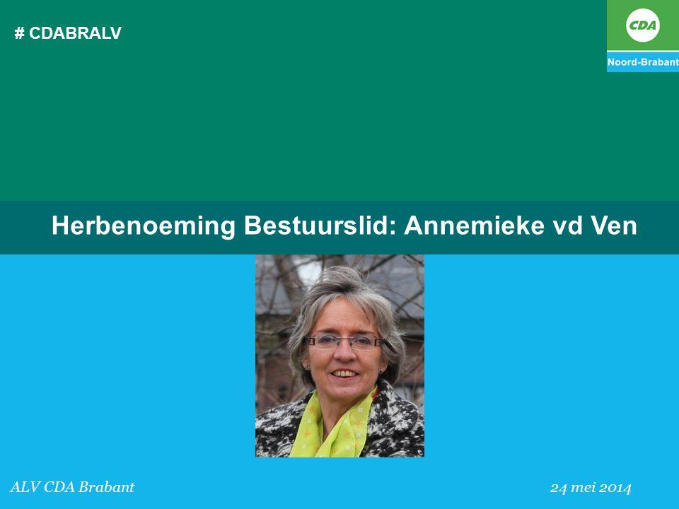 Herbenoeming Bestuurslid: Annemieke vd Ven