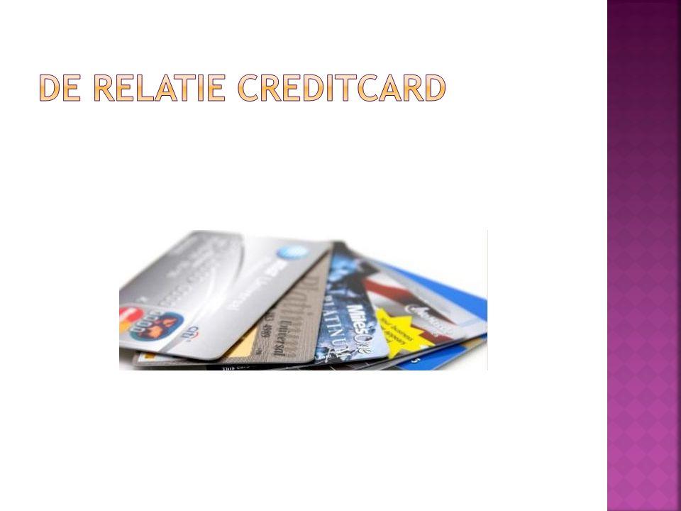 De relatie creditcard