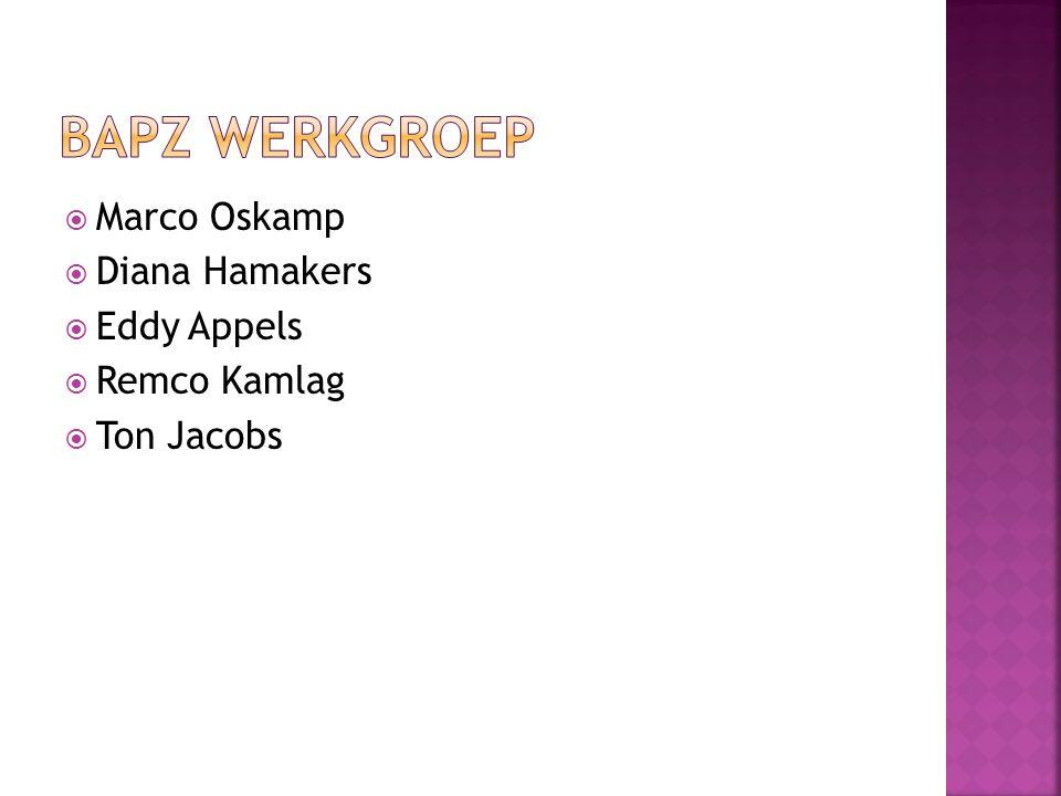 BAPZ werkgroep Marco Oskamp Diana Hamakers Eddy Appels Remco Kamlag