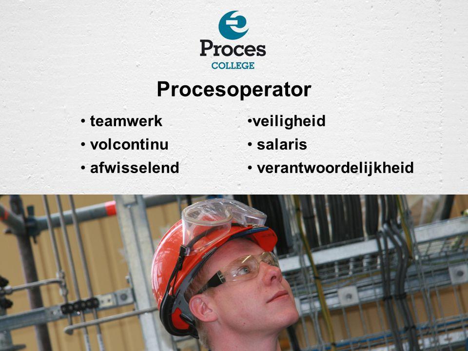 Procesoperator teamwerk volcontinu afwisselend veiligheid salaris