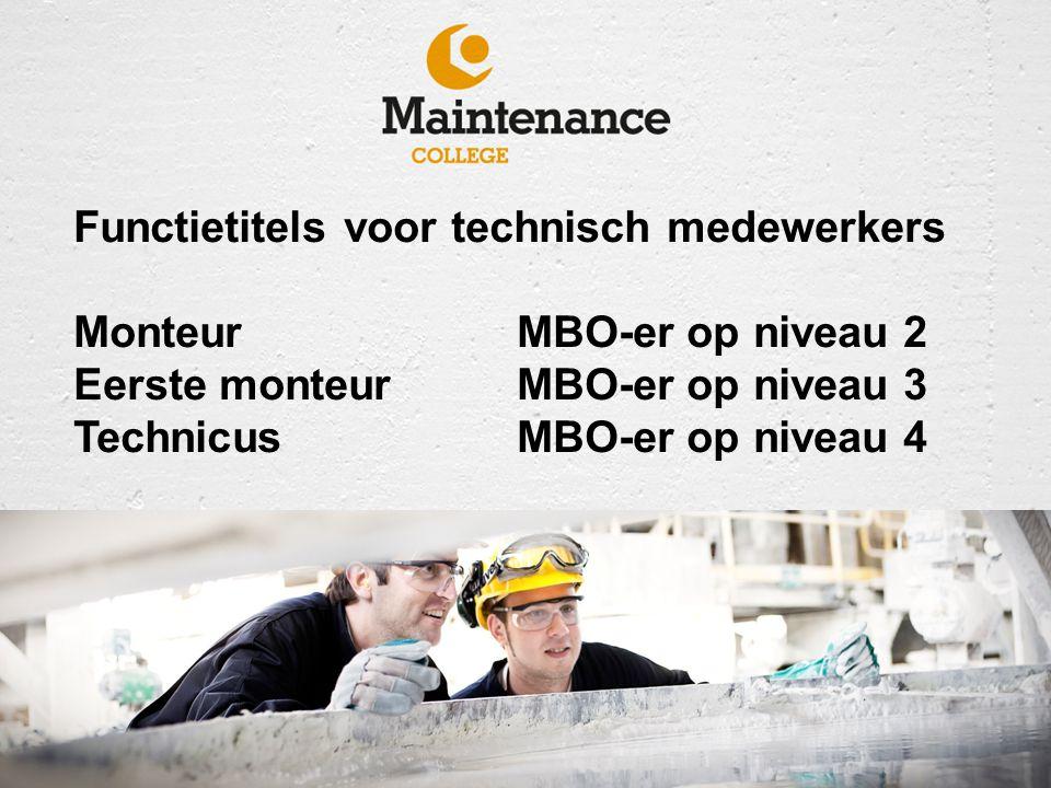 Functietitels voor technisch medewerkers