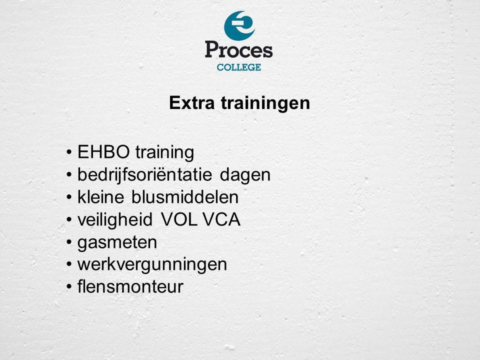Extra trainingen EHBO training. bedrijfsoriëntatie dagen. kleine blusmiddelen. veiligheid VOL VCA.